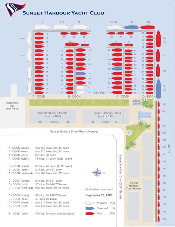 Boat dockage mooring marina dockuminium yacht club in Miami Beach
